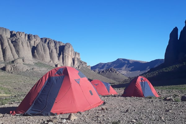 Expedition tents at Morocco