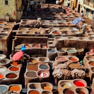 The traditional washing area - Fez